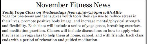 HS Yoga class